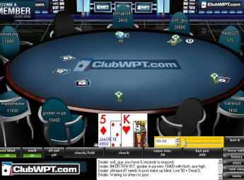 ClubWPT- Tournament Table